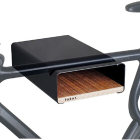 PARAX S-Rack Wandhalterung Aluminium schwarz/braun